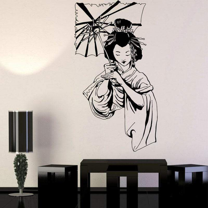 Japanese Wall Decals - Geisha Umbrella