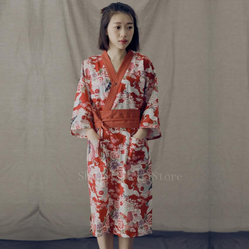 Red crane pattern </br> Women's Yukata
