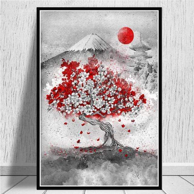 Sakura Mount Fuji </br> Japanese Painting