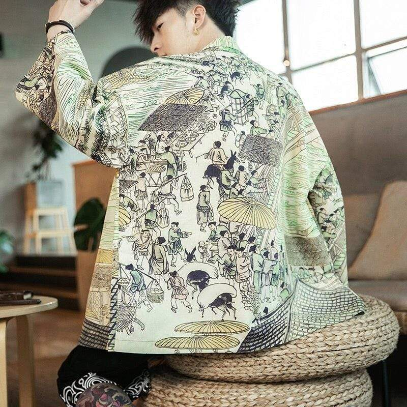 Traditional Village Kimono Jacket
