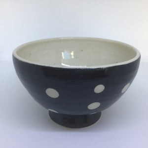 Bowl with Black Dots