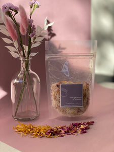 lavender & rose geranium bath tea