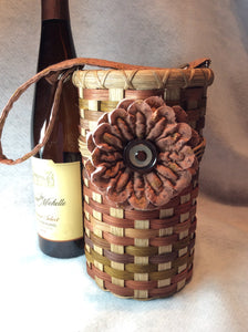 Single Wine Bottle Carrier Basket PDF Pattern
