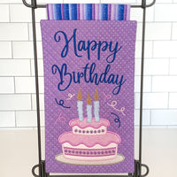 CLASS KIT for Embroidery Garden 'HAPPY BIRTHDAY Mylar Mini Quilt' - kit does not include files or instructions