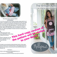 Artisan Apron Sewing Pattern w/ hardware (shipped to your home) - Women's Full and Half -  Apron Pattern - Vendor Apron