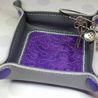 DIGITAL DOWNLOAD - In The Hoop Embroidery Machine Design - 8 sizes - APPLIQUE Snap Tray - Valet Tray - Travel - Trinket Tray