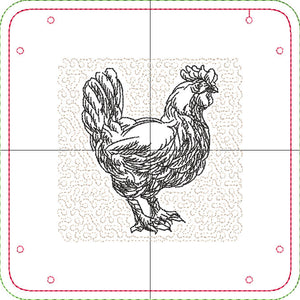 "DIGITAL DOWNLOAD - In The Hoop Embroidery Machine Design - 7"" x 7"" Food Group Snap Tray Set - 6 designs - Valet Tray"