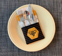 CLASS KIT for Embroidery Garden 'Bee Silverware Napkin Holder' - kit does not include files or instructions