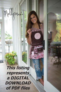 DIGITAL DOWNLOAD Apron Pattern PDF - Women's Full and Half -  Apron Pattern - Vendor Apron - Apron Sewing Pattern - Sewing Pattern - PDF Pattern
