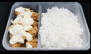 Chicken Karaage w/ Miso Mayonnaise and Steamed Rice