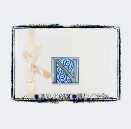 Initial Monogram Boxed Stationary Set - N