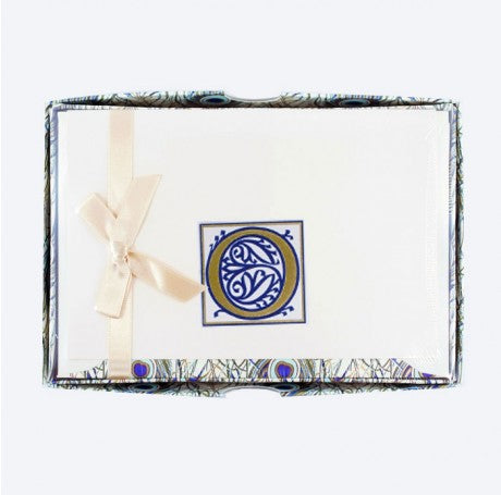 Initial Monogram Boxed Stationary Set - O