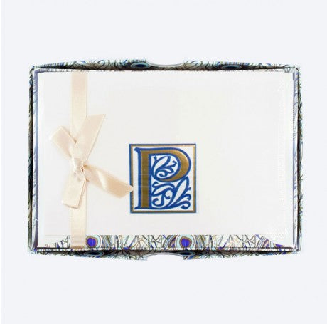 Initial Monogram Boxed Stationary Set - P