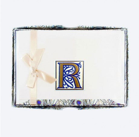 Initial Monogram Boxed Stationary Set - R
