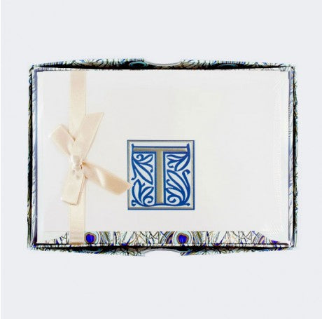Initial Monogram Boxed Stationary Set - T