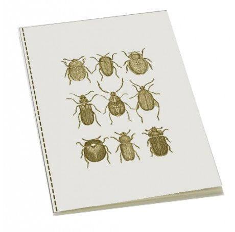 Vintage Beetles Stitched Bound Notebook