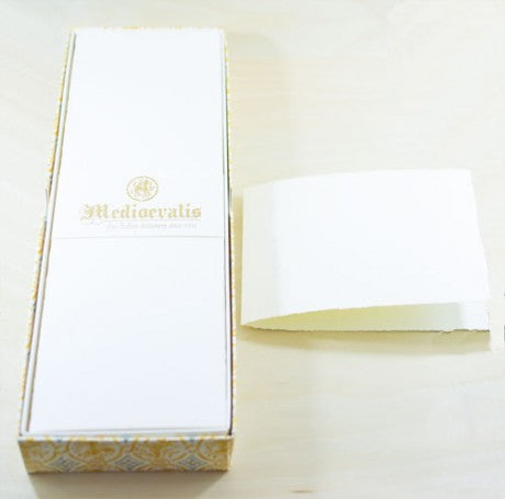 206A Medioevalis Deckled Edge Cream Folded Cards
