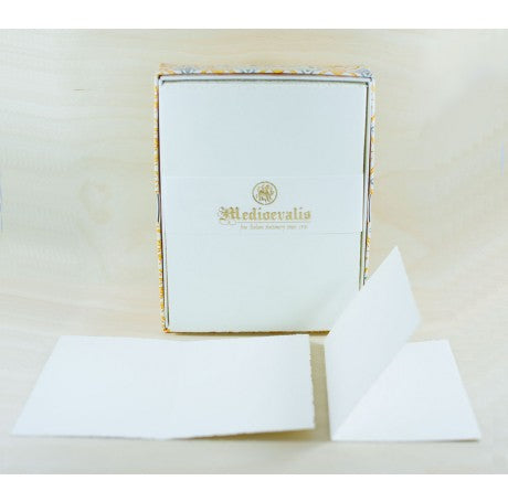 207L Medioevalis Deckled Edge Cream Folded Cards