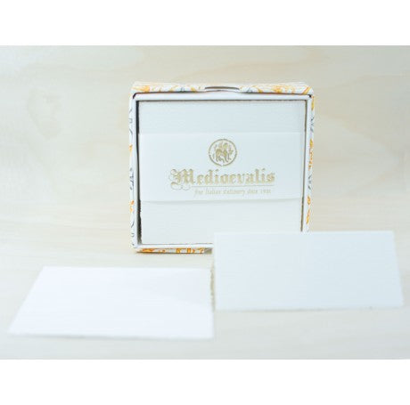210S Medioevalis Deckled Edge Cream Folded Cards