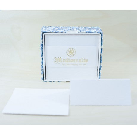 210S Medioevalis Deckled Edge White Folded Cards