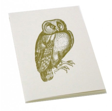 Vintage Owl Stitched Bound Notebook