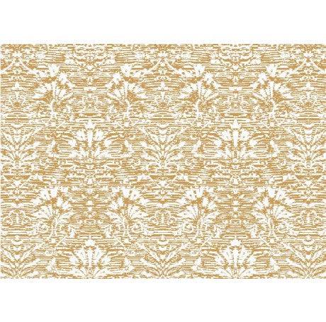 Damask Gold Flower Gift Wrap