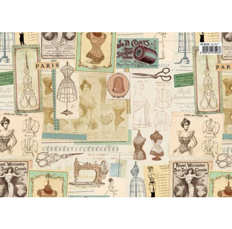 Women's Vintage Fashion Gift Wrap