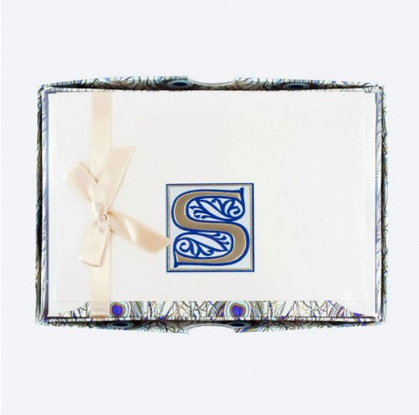 Initial Monogram Boxed Stationary Set - S