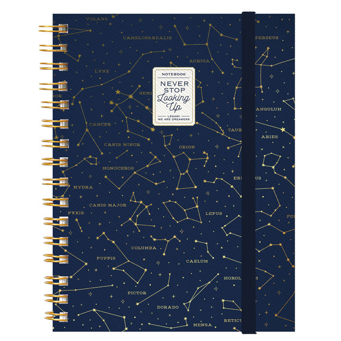 NOTEBOOK WITH SPIRAL - Stars