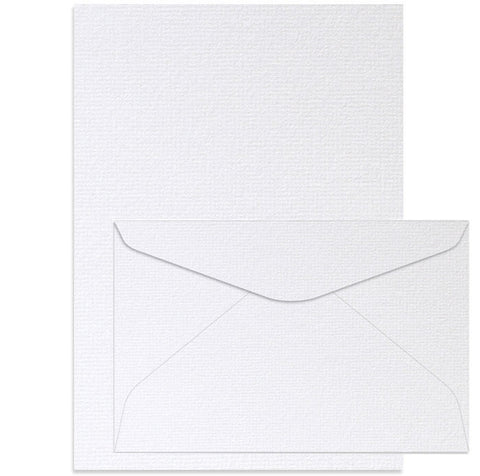 A5 Writing Set - Oxford White
