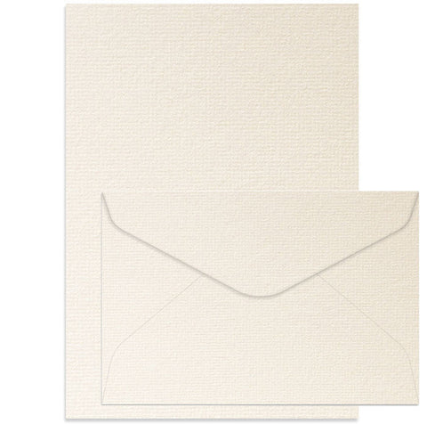A5 Writing Set Box - Oxford Cream