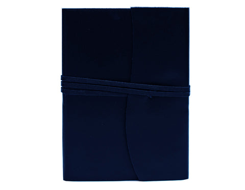 AMALFI LEATHER JOURNAL REFILLABLE LARGE - NAVY