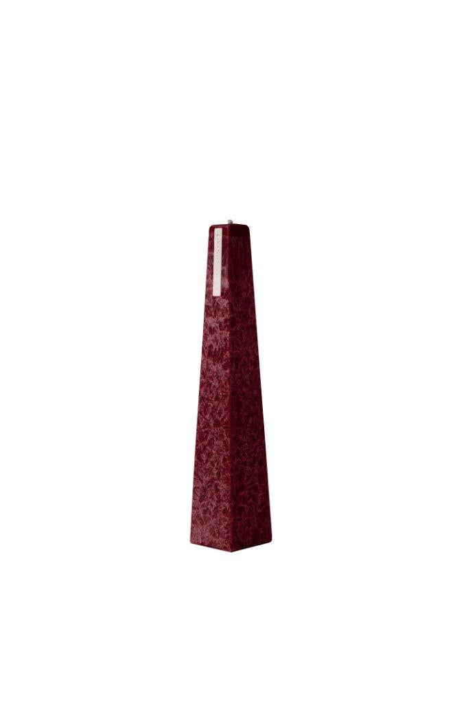 Candle Icicle Dark Red Large