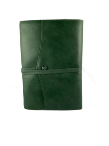 AMALFI REFILLABLE LEATHER JOURNAL LARGE - Dark Green