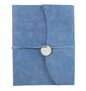 AMALFI REFILLABLE LEATHER JOURNAL LARGE - BLUE