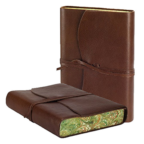 VENEZIA LEATHER JOURNAL CHOCOLATE