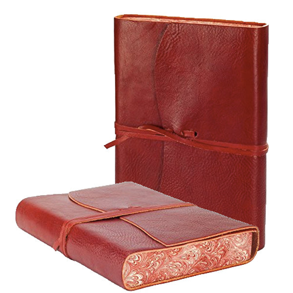 VENEZIA LEATHER JOURNAL RED