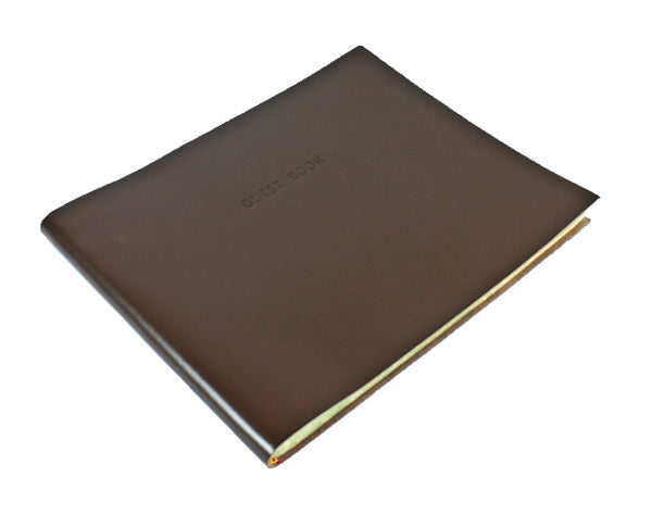 Torcello Leather Guest Book Brown