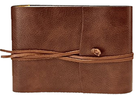 Tivoli Recycled Leather Photo Album Chestnut Small