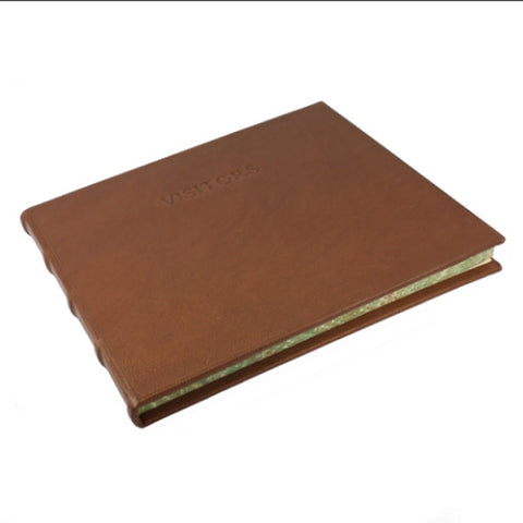 Toscana Leather Visitor Book Brown