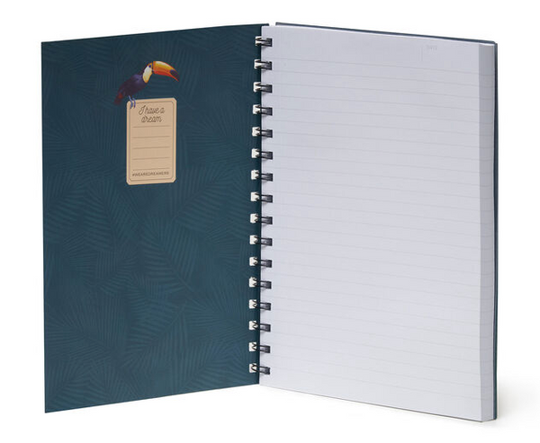 Notebook With Spiral - Toucans