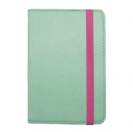 TURQUOISE/PINK PASSPORT HOLDER - LEGAMI