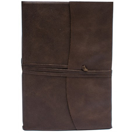 Amalfi Refillable Leather Journal Large - Chocolate