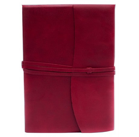 Amalfi Refillable Leather Journal Large - Red