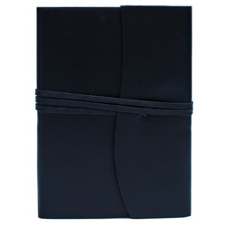 Amalfi Refillable Leather Journal Large - Black
