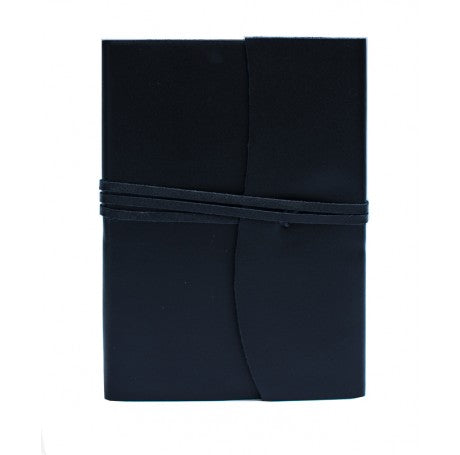 Amalfi Leather Journal Medium - Black
