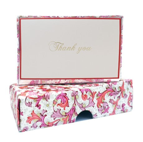 Florentine Red Thank You Card Set