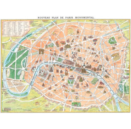 Rome New Map Gift Wrap