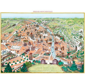Florence New Map Gift Wrap