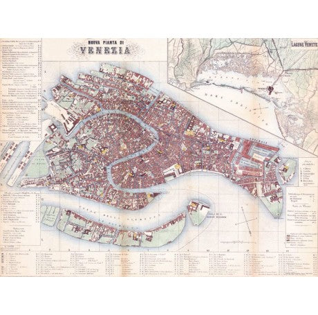 Venezia New Map Gift Wrap